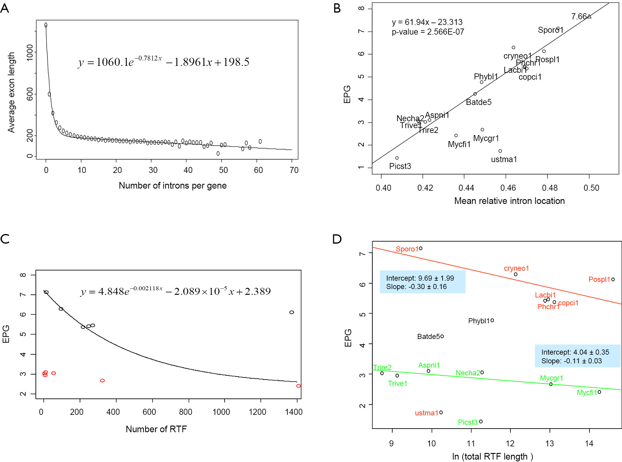 Reverse transcriptase and intron number evolution - Zhou